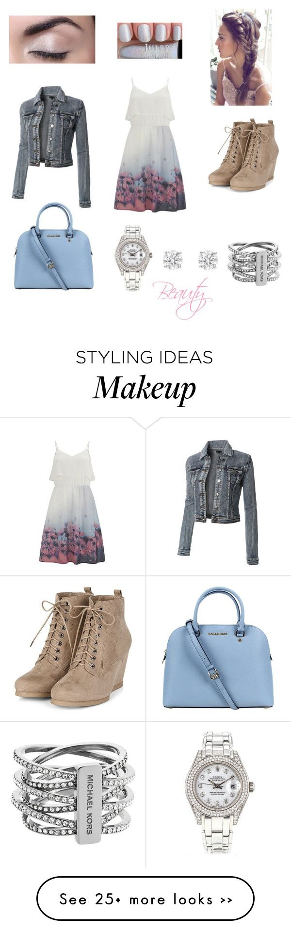"""""""#beauty"""" by lovinfashion247 on Polyvore featuring Vero Moda, Michael Kors, Rolex and cute"""