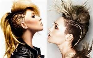 model rambut kepang mohawk