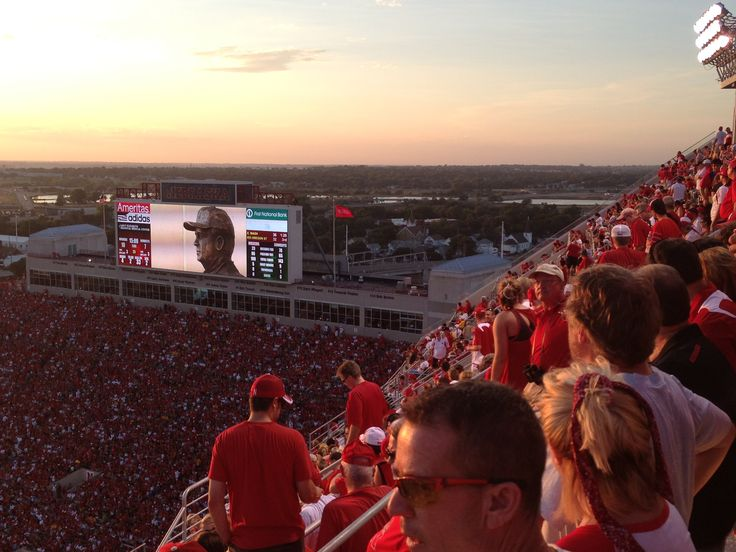 View from the new East Stadium seat at Memorial Stadium.  Lincoln, Nebraska.