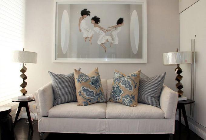 The #sofabed Benny in the elegant showroom of our Peruvian retailer Casa Design por Mari Cooper. www.milanobedding.it