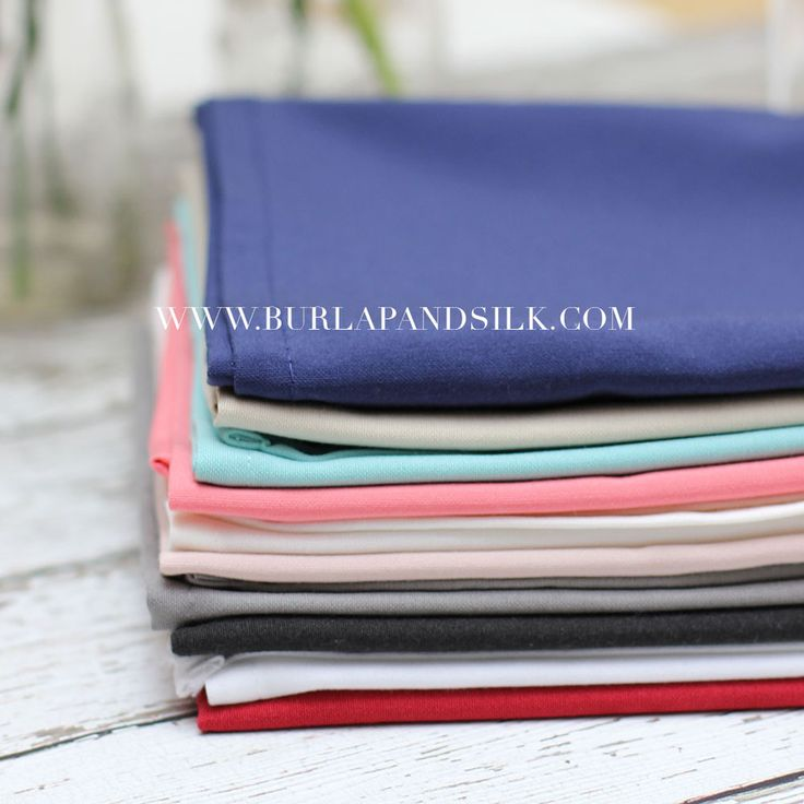 Cloth Napkin Sample Pack 13 Colors