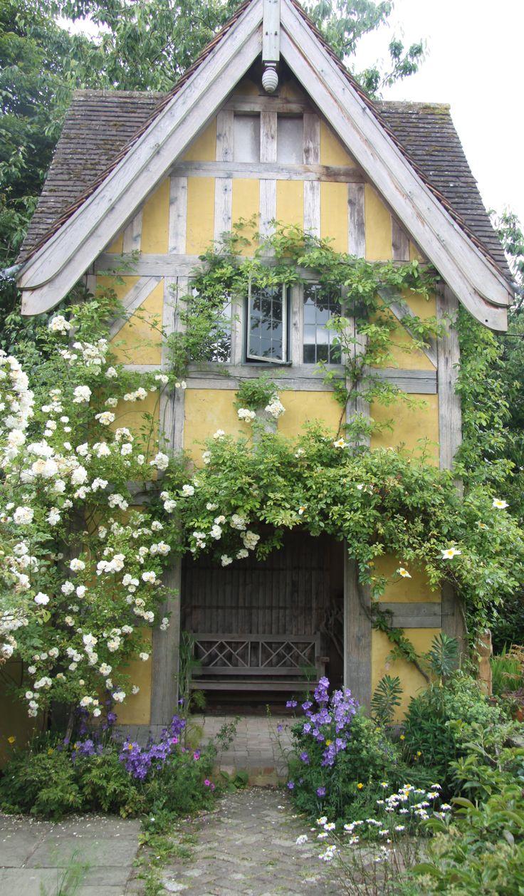 Dovecote, Roses, and Campanula