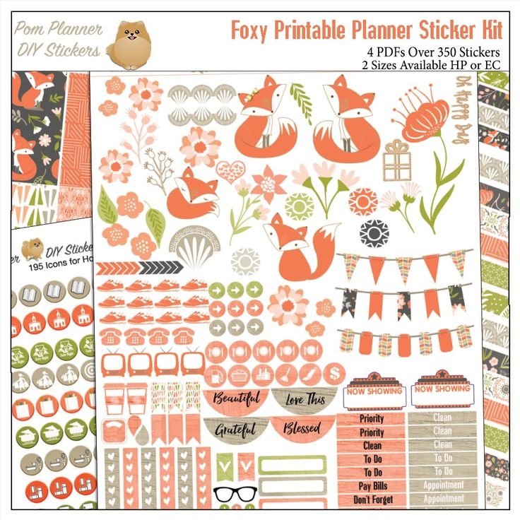 Printable Calendar Kit : Images about diy filofax planner tips and products