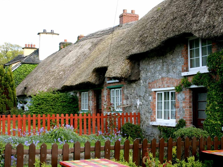 Ireland: Cottages along the street in Adare Village,County Limerick.Adare Ireland,  Thatched Roof, Travel Dreams, Irish Cottages, Travel Tips, Things Irish, Limerick Ireland, Adare Village, County Limerick
