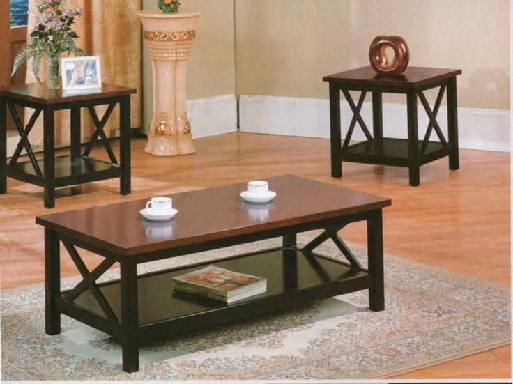 Light Cherry Coffee Table Set