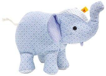petit éléphant du cirque Steiff bleu clair 20cm