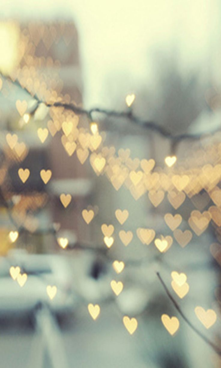 Hearts bokeh lights - Beautiful iPhone wallpapers @mobile9