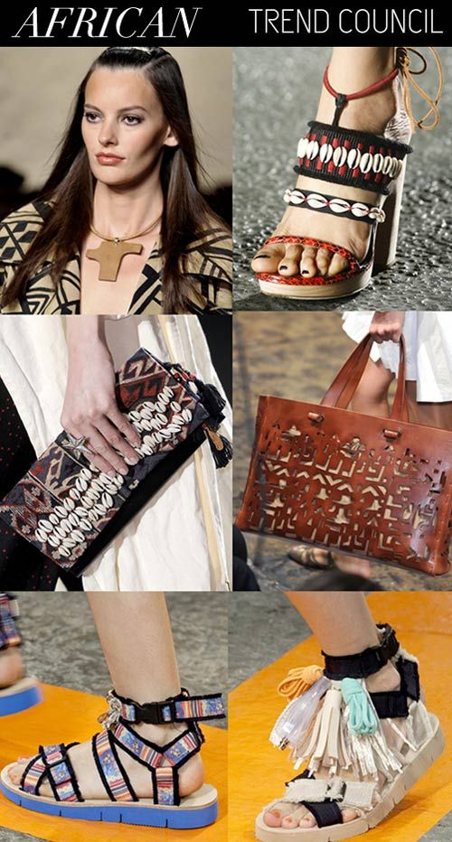 SS 2015, women's accessories trends, pattern african