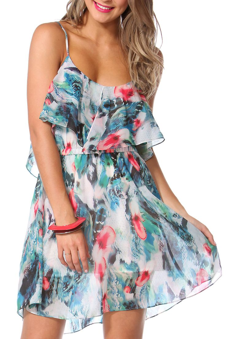 Sass - Flamingo Feather Dress