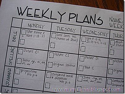 My Homeschool Planning Pages « Mama Jenn {the blog}