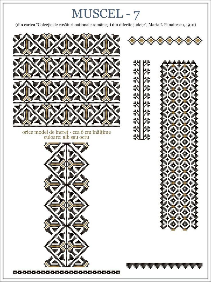 Romanian motifs - Muscel 1910