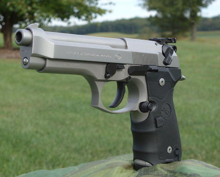 Beretta 92FS Inox upgrades from Wilson Combat, Wolf Springs, Crimson Tra...