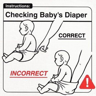 Don't put your hand down your baby's diapers to check. You might find a yucky surprise.