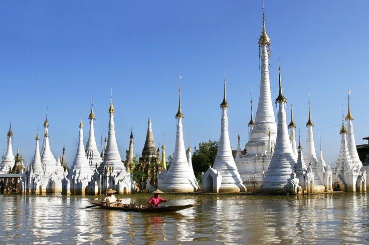 Petite balade en pirogue dans le lac de Shan State