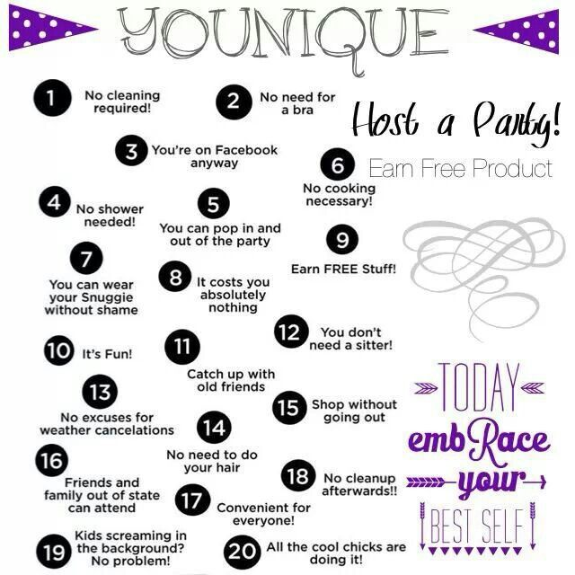 Host your own Younique Online party...EARN FREE PRODUCTS