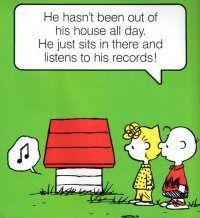 Snoopy spinning vinyl...