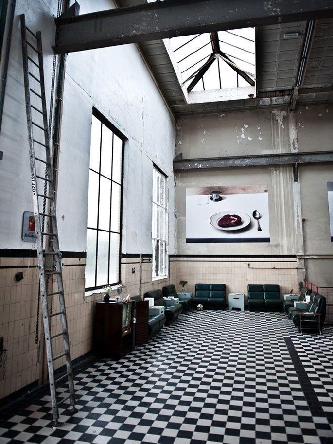 Industrial space turned restaurant, Radio Royaal, Eindhoven