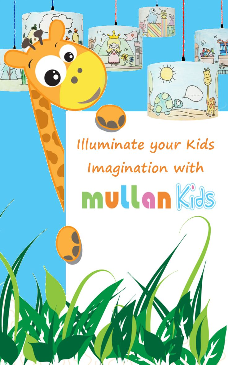 Illuminate your kids imagination with a Colour Me Lampshade!