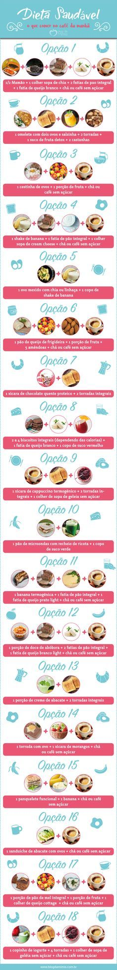 Dieta saudável: o que comer no café da manhã                                                                                                                                                      Mais