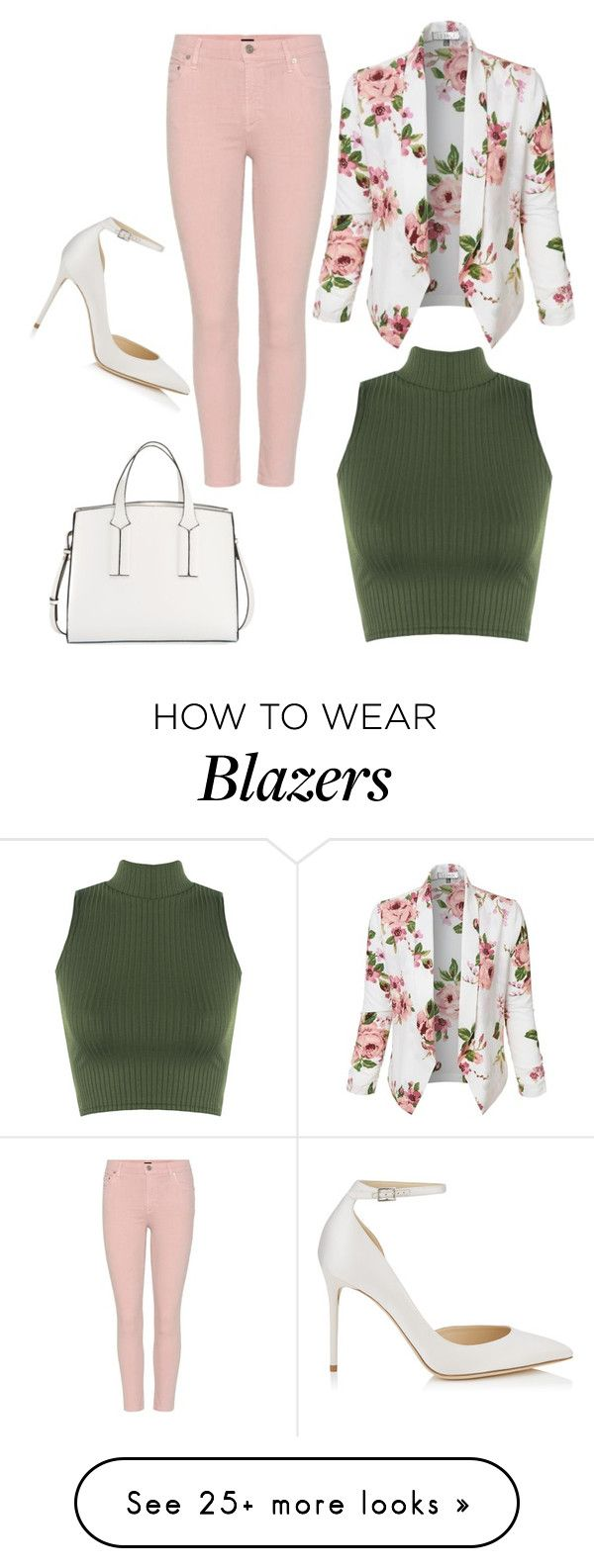 """""""Floral Blazer"""" by lover-of-tea on Polyvore featuring LE3NO, WearAll, French Connection, Jimmy Choo and Citizens of Humanity"""
