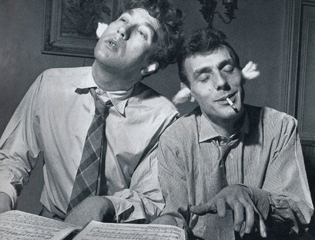 Frankie Howerd and Eric Sykes. UK comedy legends.