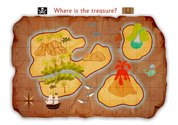 Treasure and a map are a must!