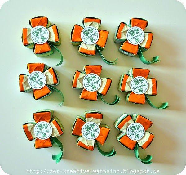 Der kreative Wahnsinn: Küsschen Verpackung: Kleeblatt