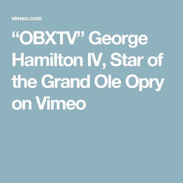 """OBXTV"" George Hamilton IV, Star of the Grand Ole Opry on Vimeo"