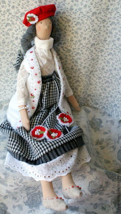 Куклы Тильды ручной работы. Ярмарка Мастеров - ручная работа Птичка зимняя. Handmade.