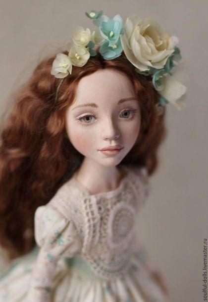 Коллекционные куклы ручной работы. Ярмарка Мастеров - ручная работа. Купить Ася. Handmade. Мятный, кукла ручной работы, весна