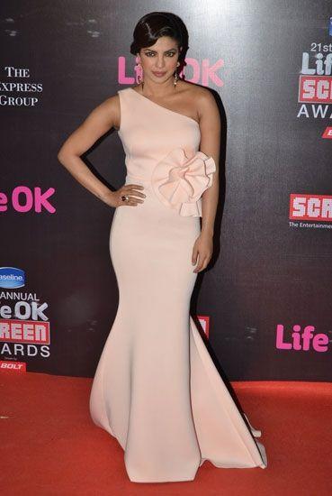 Priyanka Chopra at Life Ok Awards by Gauri & Nainika. To View, Visit: http://www.vogue.in/content/15-gauri-nainika-gowns-celebrities-love