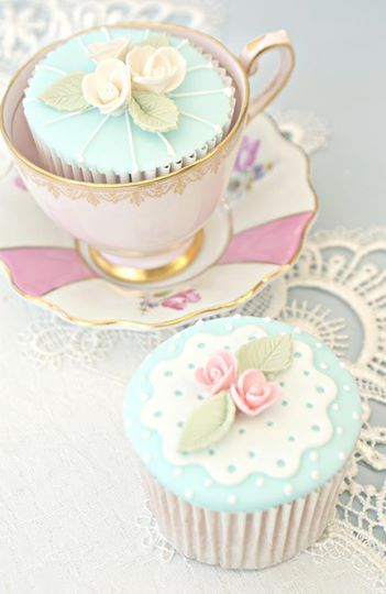 tea party cupcakesTea Party Cupcakes, Teas Time, Tea Parties, Cups Cake, Ana Rosa, Backen Cupcakes, Pretty, Teas Parties, Parties Cupcakes