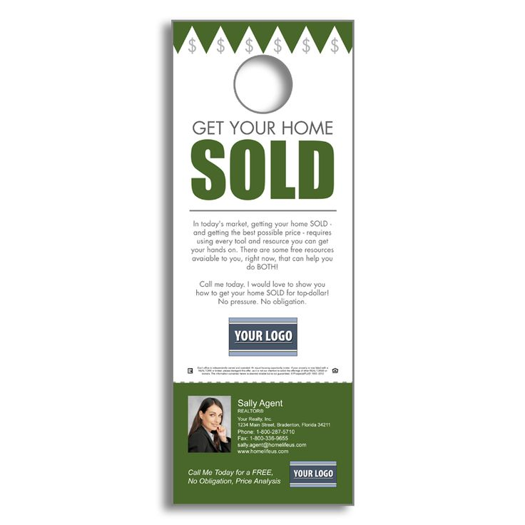 door hanger design real estate. Real Estate FSBOs - Get Your Home Sold Door Hanger Design