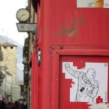 aosta, 2014, skene, sticker art, graphic, art, street art, urban art, molotov, mouse, usb, lancio. bottiglia, cappuccio, alle spalle, adesivo, cassetta postale
