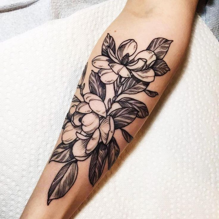 A bunch of magnolias for my second tattoo by Shannon Elliott at Black Medicine Tattoo. Vancouver BC