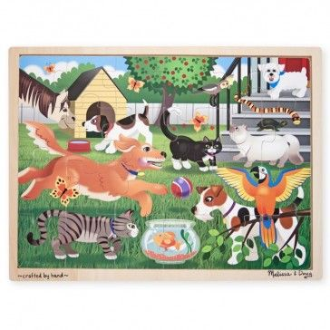 Melissa & Doug Pets at Play 24 piece Wooden Jigsaw Puzzle - What's New