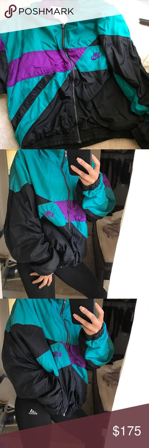 Retro Nike Windbreaker 💨 One of kind. FIRM PRICE. Perfect condition. No trading at all. Will ship same day if before 2pm or next day. ❤️All items sold here are in perfect condition unless stated otherwise. Nike Jackets & Coats