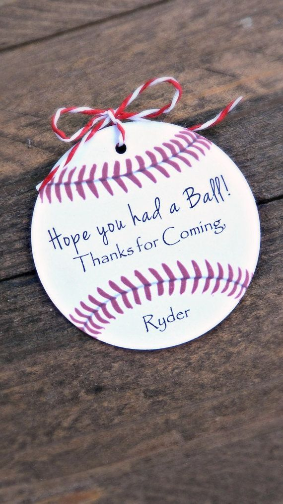 Baseball Birthday Party Tags Hope You Had a by MailmansDaughter