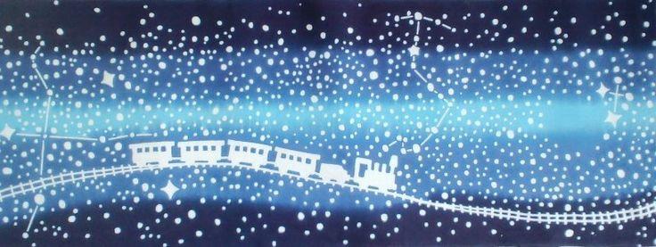 銀河鉄道の夜をたどる星廻りの手ぬぐい(かまわぬ×フェリシモ)