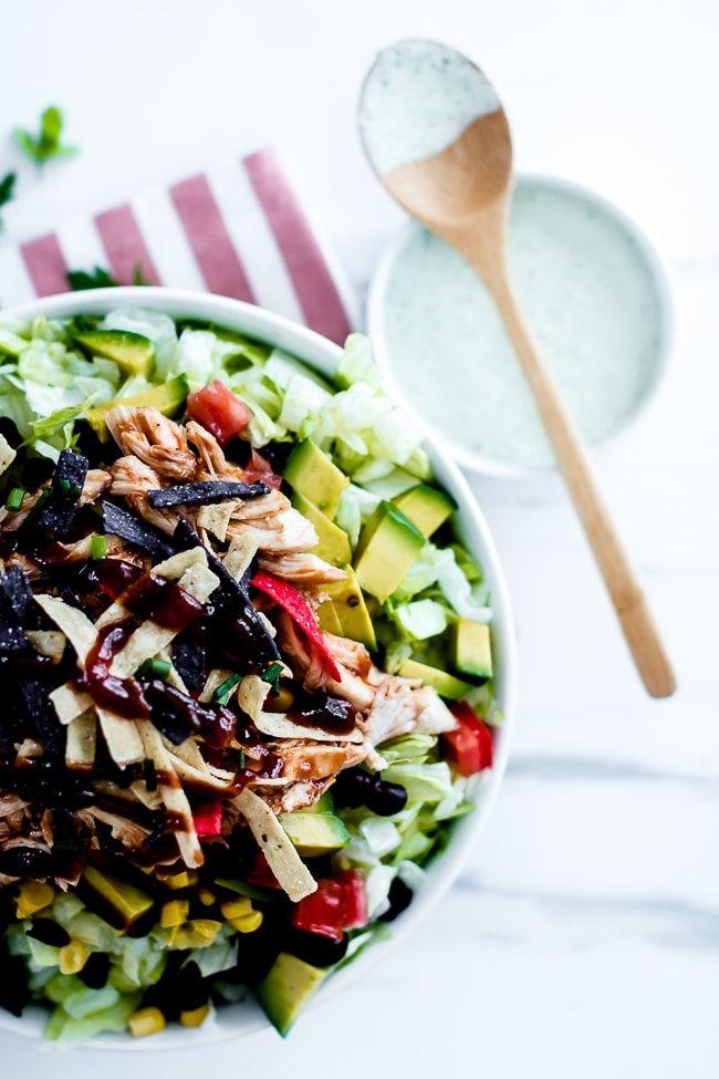 BBQ Chicken Chopped Salad Recipe dinner Pinterest Salad, Bbq