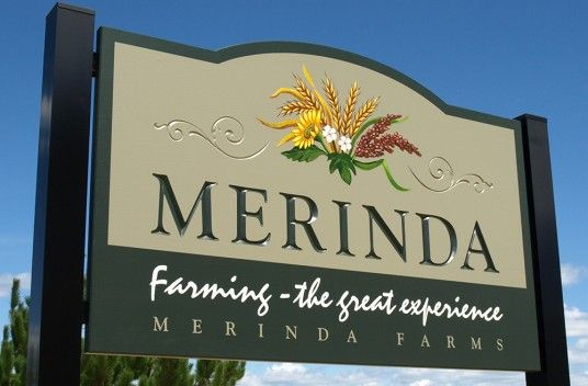 Merinda Farms Sign / Danthonia Designs