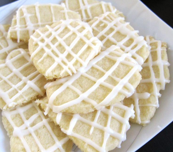 lemon iced shortbread