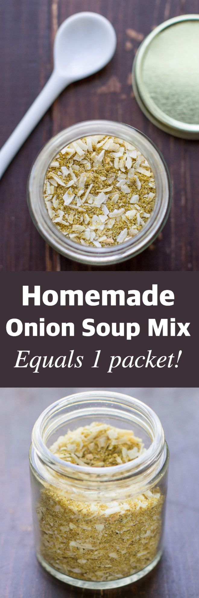 Homemade Onion Soup Mix is perfect for soups, dips, pot roast, and more! This easy recipe makes the equivalent of one packet, just what you need!