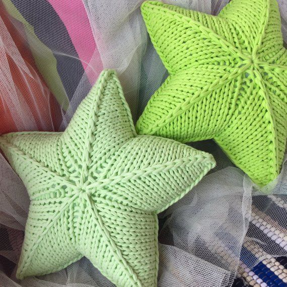 Star Crochet Cushion Star Knitted Pillow Crochet Star Pillow Star Shape Pillow Little Crochet Star Star Knitted Crochet Pillow Knitting Gift Crochet Stars
