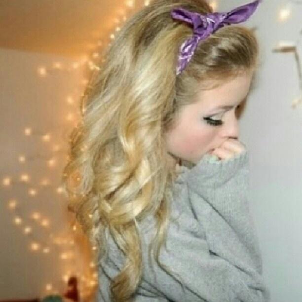 Curls Gurl Werq That Bandana Hair Pinterest Hair