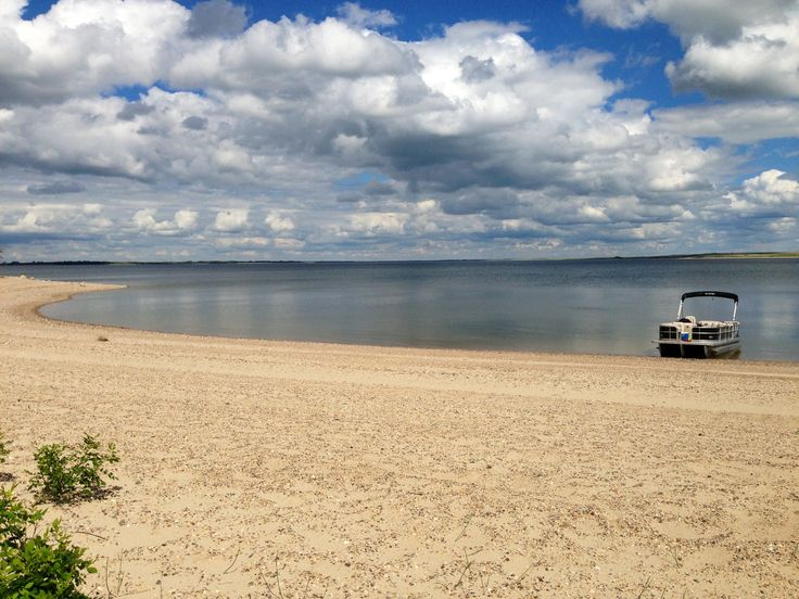 On the shores of Lake Diefenbaker!
