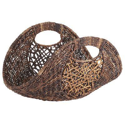 Abaca & Rattan Basket