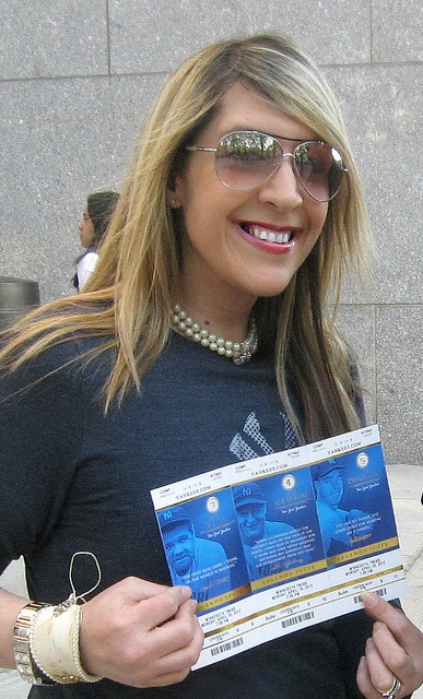Me and the Tickets! At Yankee Stadium April 16, 2012, Legends Suite! by Lisa Kettell
