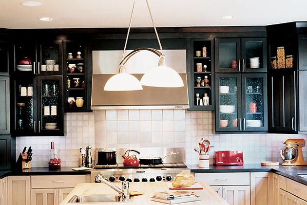Dark Upper Light Lower Cabinets In 2019 Kitchen
