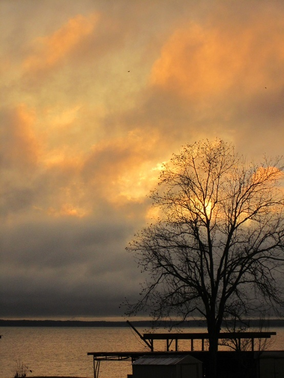Beautiful Orange Sky Over Lake Livingston